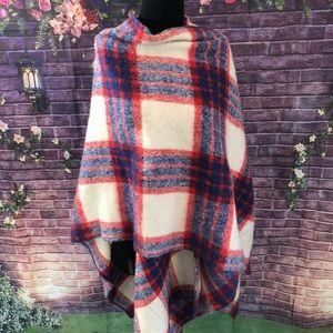 HUGE BDG Wool Alpaca Ruana Poncho Wrap UO
